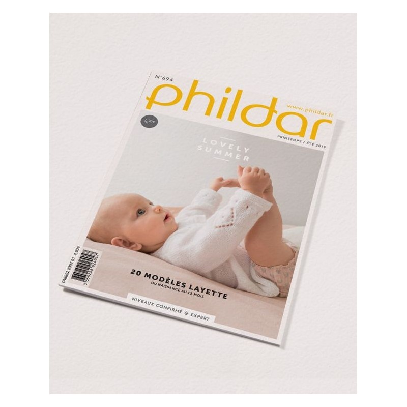 Catalogue Phildar Layette n° 694 Eté 2019