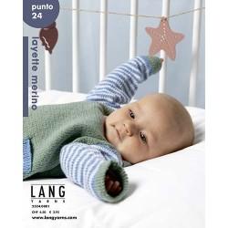Catalogue Lang Yarns n° 24 Punto Layette Mérino