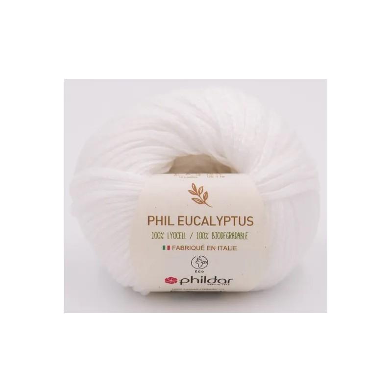Coton Phildar Phil Eucalyptus Blanc