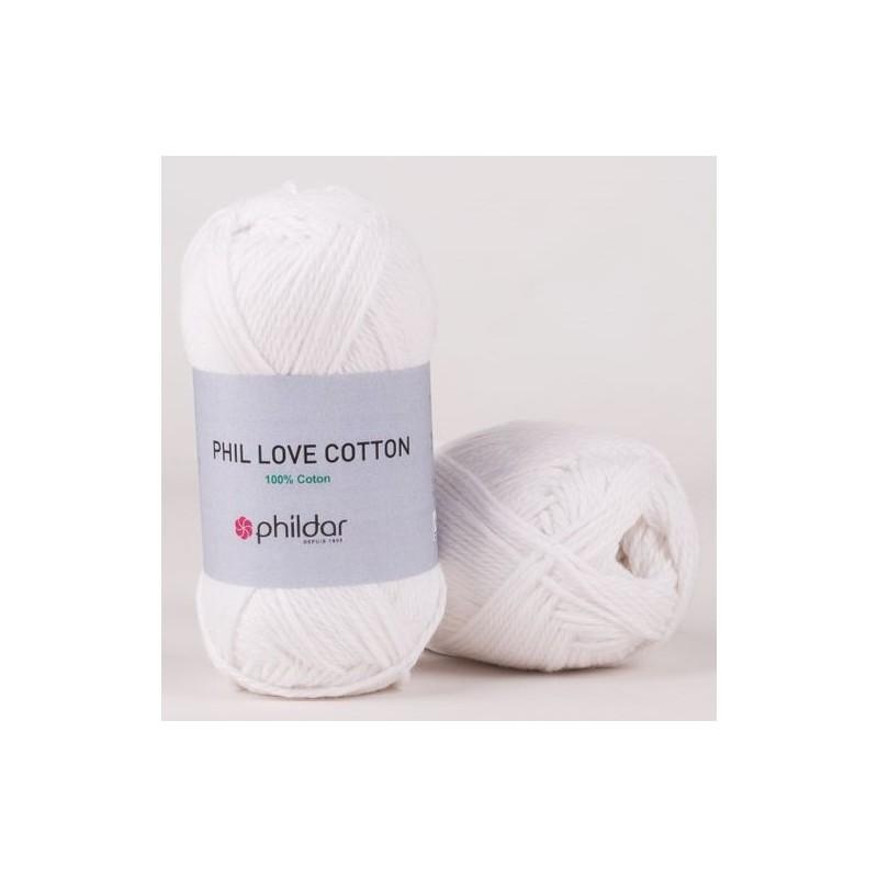 Coton Phildar Phil Love Cotton Blanc