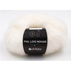 Laine Phildar PHIL LOVE MOHAIR Craie