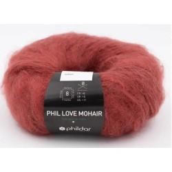 Laine Phildar PHIL LOVE MOHAIR Grenat