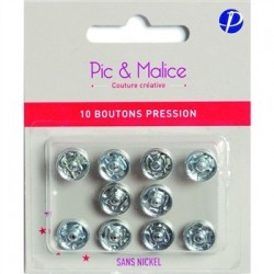 Boutons pression Pic et Malice 5221